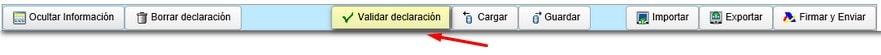 """Botón """"validar declaración del Modelo 202"""