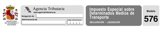 modelo 576 para impuesto especial de transporte