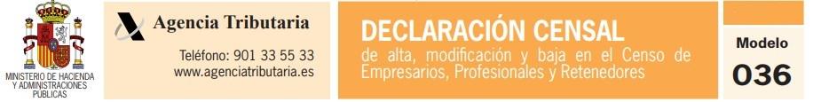 Modelo 036. Declaración censal