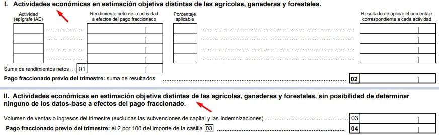Declaración de actividad económica en el Modelo 131