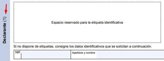 Datos del declarante en el Modelo 131