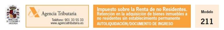 Modelo 211. Impuesto sobre la renta de no residentes