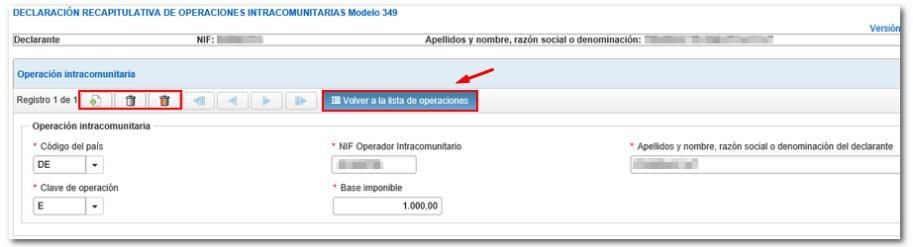 Modificación del operaciones intracomunitaria del Modelo 349