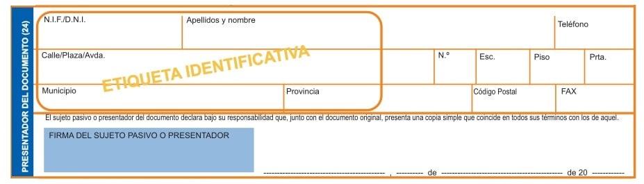 persona que presentará el Impuesto sobre Transmisiones Patrimoniales y Actos Jurídicos Documentados