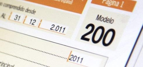 Declarar impuesto de sociedades con el modelo 200
